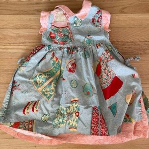 Vintage E. fluff Asian Inspired Dress with Apron